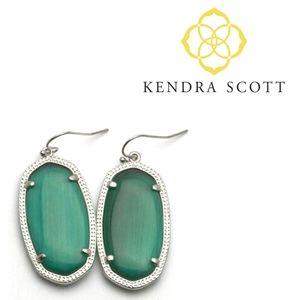 ■Kendra Scott■ Elle Cat's Eye Emerald Earrings